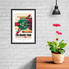 Ezposterprints - The Grand Tour - A Once In A Lifetime Getaway - Jupiter / Saturn / Uranus / Neptune - 08x12 ambiance display photo sample