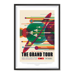 Ezposterprints - The Grand Tour - A Once In A Lifetime Getaway - Jupiter / Saturn / Uranus / Neptune ambiance display photo sample
