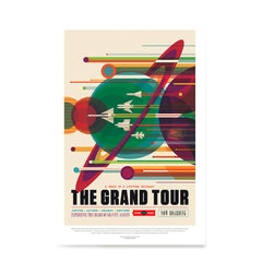 Ezposterprints - The Grand Tour - A Once In A Lifetime Getaway - Jupiter / Saturn / Uranus / Neptune