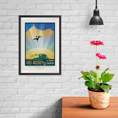Ezposterprints - HD 40307 G - Experience The Gravity of a Super Earth - 08x12 ambiance display photo sample