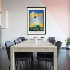 Ezposterprints - HD 40307 G - Experience The Gravity of a Super Earth - 32x48 ambiance display photo sample