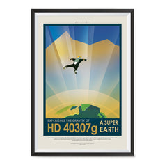 Ezposterprints - HD 40307 G - Experience The Gravity of a Super Earth ambiance display photo sample