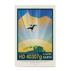 Ezposterprints - HD 40307 G - Experience The Gravity of a Super Earth