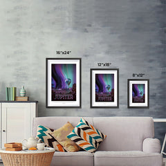 Ezposterprints - Jupiter - Experience The Mighty Auroras ambiance display photo sample