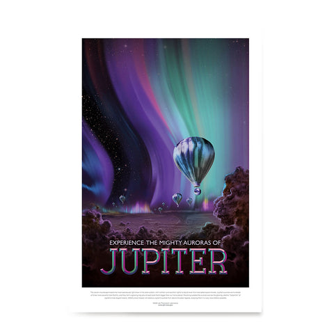 Ezposterprints - Jupiter - Experience The Mighty Auroras