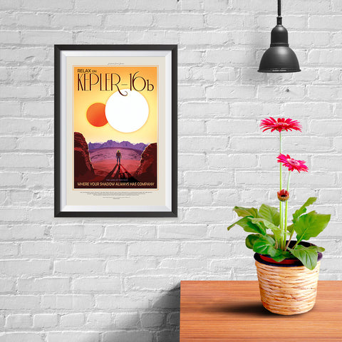 Ezposterprints - Kepler-16b - Where Your Shadow Always Has Company - 08x12 ambiance display photo sample
