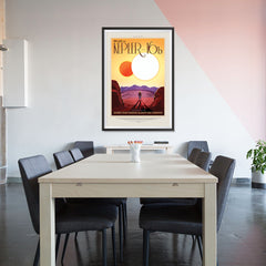 Ezposterprints - Kepler-16b - Where Your Shadow Always Has Company - 32x48 ambiance display photo sample