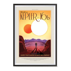 Ezposterprints - Kepler-16b - Where Your Shadow Always Has Company ambiance display photo sample