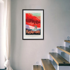 Ezposterprints - Kepler-186f -Where the Grass is Always Redder On The Other Side - 16x24 ambiance display photo sample