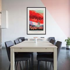 Ezposterprints - Kepler-186f -Where the Grass is Always Redder On The Other Side - 32x48 ambiance display photo sample