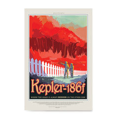 Ezposterprints - Kepler-186f -Where the Grass is Always Redder On The Other Side