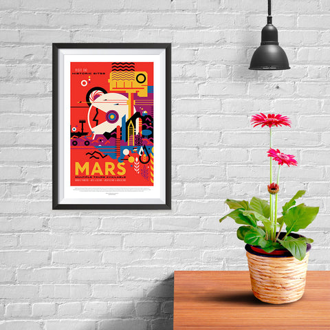 Ezposterprints - Mars - Visit The Historic Sites - Multiple Tours Available - 08x12 ambiance display photo sample