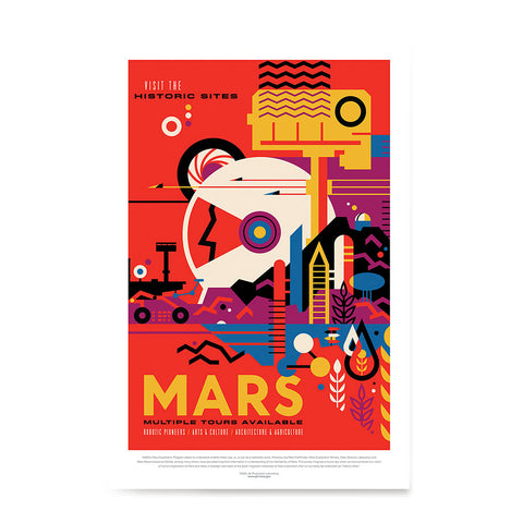 Ezposterprints - Mars - Visit The Historic Sites - Multiple Tours Available