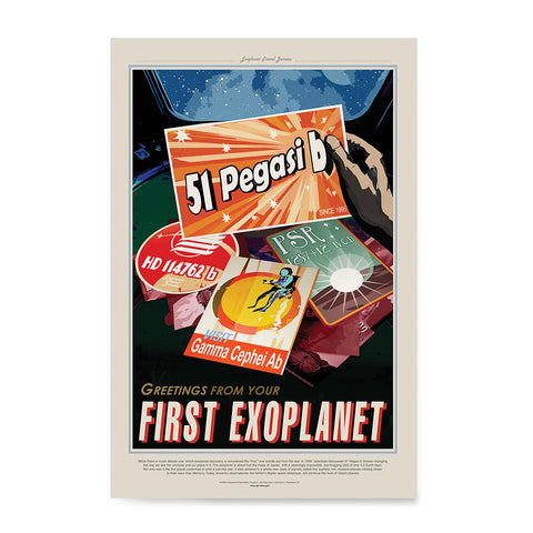 Ezposterprints - 51 Pegasi b - Greetings From Your First Exoplanet