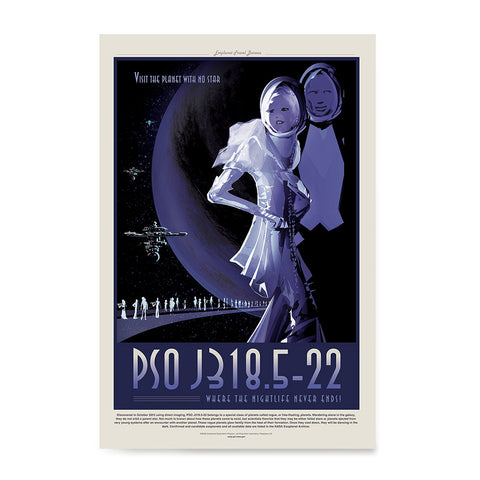 Ezposterprints - PSO J318.5-22 - The Planet With No Star Where the Nightlife Never Ends