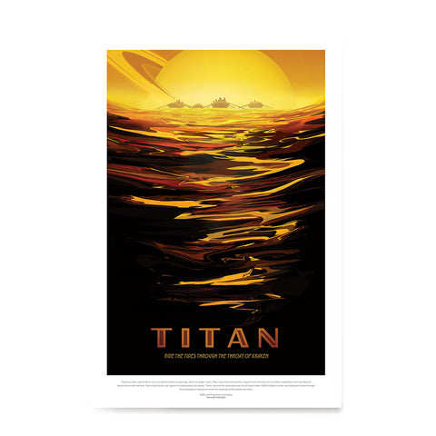 Ezposterprints - Titan - Ride The Tides Through The Throat Of Kraken