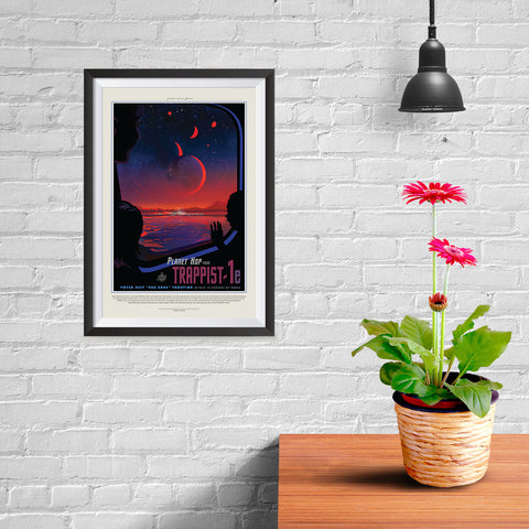 Ezposterprints - Planet hop from Trappist-1e Voted Best Hab Zone Vacation - 08x12 ambiance display photo sample