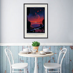 Ezposterprints - Planet hop from Trappist-1e Voted Best Hab Zone Vacation - 12x18 ambiance display photo sample