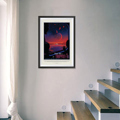 Ezposterprints - Planet hop from Trappist-1e Voted Best Hab Zone Vacation - 16x24 ambiance display photo sample