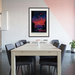 Ezposterprints - Planet hop from Trappist-1e Voted Best Hab Zone Vacation - 32x48 ambiance display photo sample