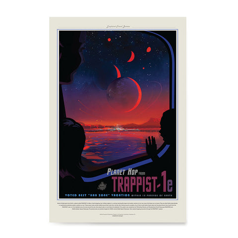 Ezposterprints - Planet hop from Trappist-1e Voted Best Hab Zone Vacation