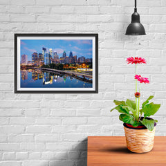 Ezposterprints - Philadelphia Skyline at Night - 12x08 ambiance display photo sample
