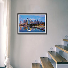 Ezposterprints - Philadelphia Skyline at Night - 24x16 ambiance display photo sample