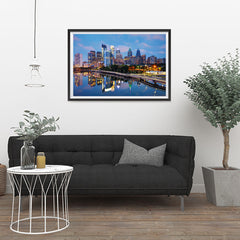 Ezposterprints - Philadelphia Skyline at Night - 36x24 ambiance display photo sample