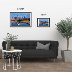 Ezposterprints - Philadelphia Skyline at Night ambiance display photo sample