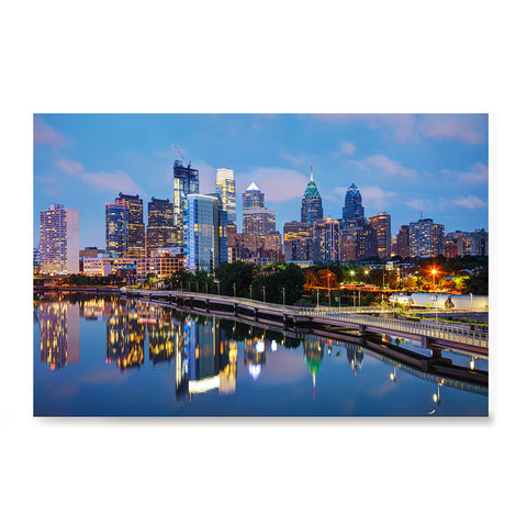 Ezposterprints - Philadelphia Skyline at Night