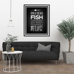 Ezposterprints - Only Dead Fish - 32x40 ambiance display photo sample
