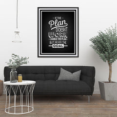 Ezposterprints - If The Plan Doesn't Work - 32x40 ambiance display photo sample