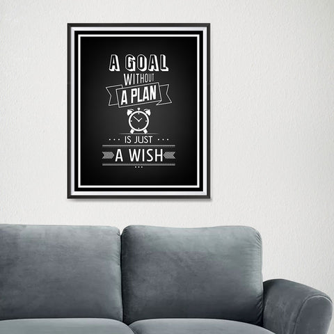 Ezposterprints - A Goal Without a Plan - 16x20 ambiance display photo sample