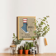 Ezposterprints - Happiness is The Way  - 12x16 ambiance display photo sample