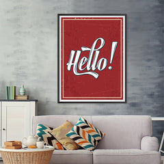 Ezposterprints - Hello! - 36x48 ambiance display photo sample