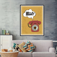 Ezposterprints - Ring Ring, Hello! - 36x48 ambiance display photo sample