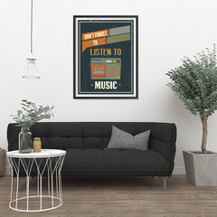Ezposterprints - Don't Forget To Listen To Music - 24x32 ambiance display photo sample