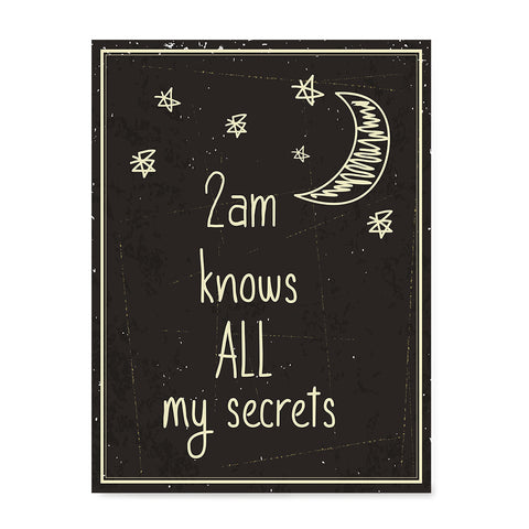 Ezposterprints - 2am Knows All My Secrets