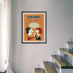 Ezposterprints - Dear Women, Let's Talk - 18x24 ambiance display photo sample