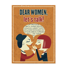 Ezposterprints - Dear Women, Let's Talk