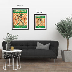 Ezposterprints - Player Green | Retro Sports Series BASEBALL Posters ambiance display photo sample