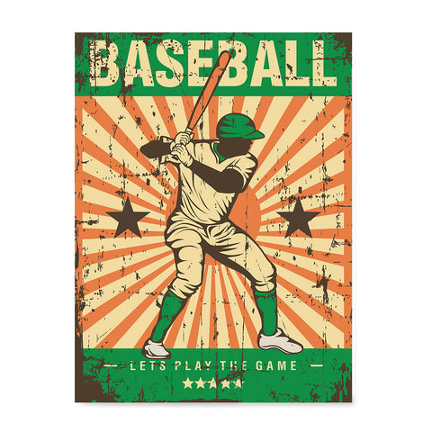 Ezposterprints - Player Green | Retro Sports Series BASEBALL Posters