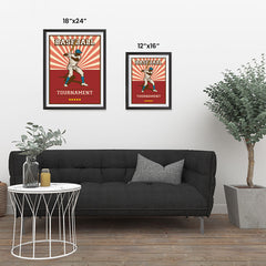 Ezposterprints - Player Red | Retro Sports Series BASEBALL Posters ambiance display photo sample