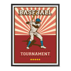 Ezposterprints - Player Red | Retro Sports Series BASEBALL Posters with frame photo sample