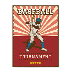 Ezposterprints - Player Red | Retro Sports Series BASEBALL Posters
