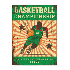 Ezposterprints - Player Green | Retro Sports Series BASKETBALL Posters