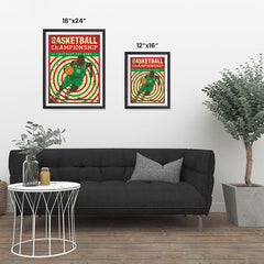 Ezposterprints - Player Green Red | Retro Sports Series BASKETBALL Posters ambiance display photo sample