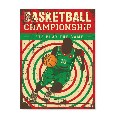 Ezposterprints - Player Green Red | Retro Sports Series BASKETBALL Posters