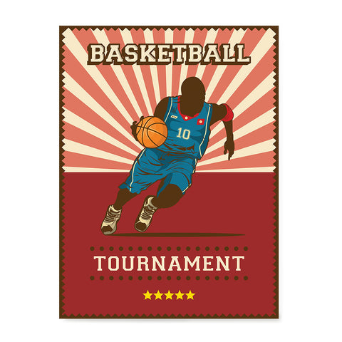 Ezposterprints - Player Red | Retro Sports Series BASKETBALL Posters