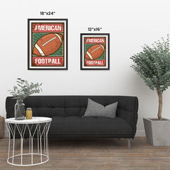 Ezposterprints - Ball Green | Retro Sports Series FOOTBALL Posters ambiance display photo sample